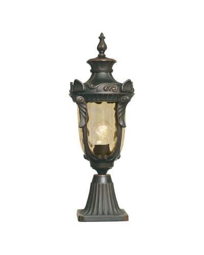 Elstead Lighting Philadelphia 1 Light Outdoor Medium Pedestal Lantern In Old Bronze Finish