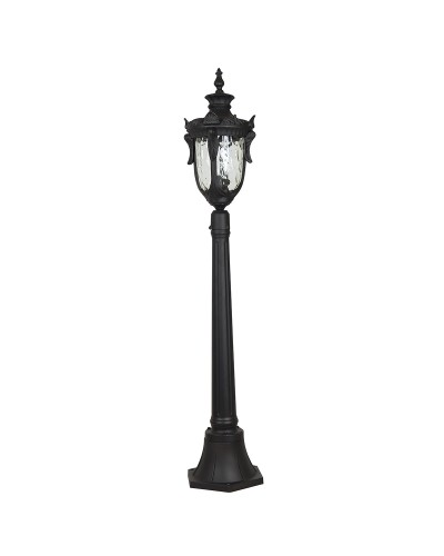 Elstead Lighting Philadelphia 1 Light Outdoor Medium Pillar Lantern In Black Finish