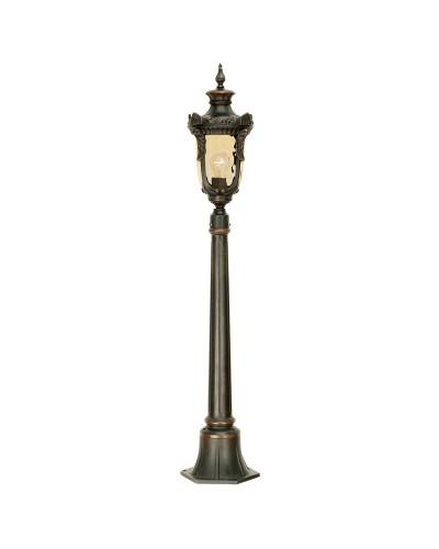 Elstead Lighting Philadelphia 1 Light Outdoor Medium Pillar Lantern In Old Bronze Finish