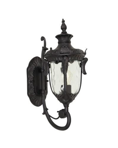 Elstead Lighting Philadelphia 1 Light Outdoor Medium Up Wall Lantern In Black Finish