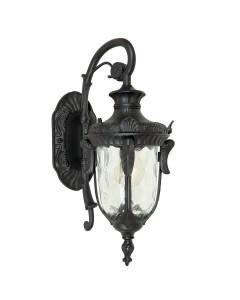Elstead Lighting Philadelphia 1 Light Outdoor Small Down Wall Lantern In Black Finish