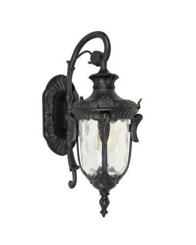 Elstead Lighting Philadelphia 1 Light Outdoor Small Down Wall Lantern In Black Finish