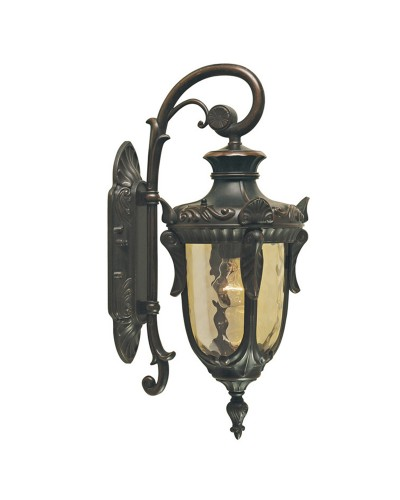 Elstead Lighting Philadelphia 1 Light Outdoor Small Down Wall Lantern In Old Bronze Finish