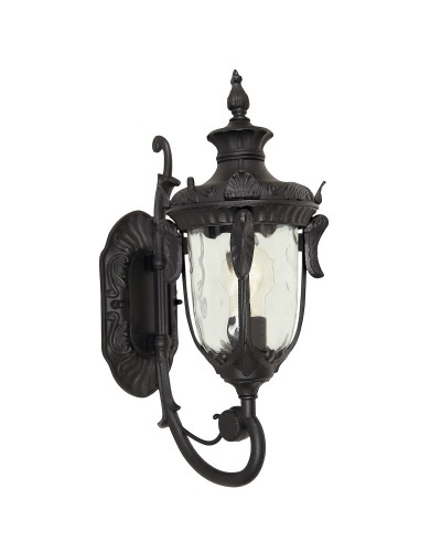 Elstead Lighting Philadelphia 1 Light Outdoor Small Up Wall Lantern In Black Finish