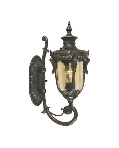 Elstead Lighting Philadelphia 1 Light Outdoor Small Up Wall Lantern In Old Bronze Finish