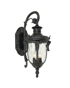 Elstead Lighting Philadelphia 3 Light Outdoor Large Down Wall Lantern In Black Finish