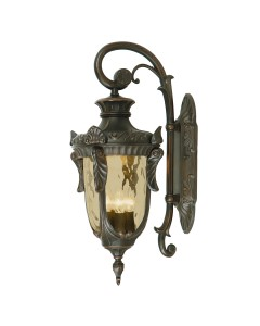 Elstead Lighting Philadelphia 3 Light Outdoor Large Down Wall Lantern In Old Bronze Finish