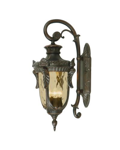Elstead Lighting Philadelphia 3 Light Outdoor Large Down Wall Lantern In Old Bronze Finish