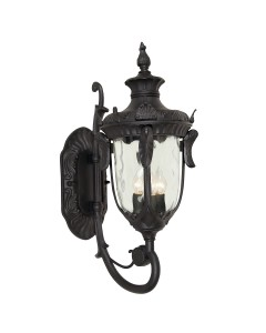 Elstead Lighting Philadelphia 3 Light Outdoor Large Up Wall Lantern In Black Finish