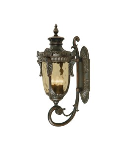 Elstead Lighting Philadelphia 3 Light Outdoor Large Up Wall Lantern In Old Bronze Finish