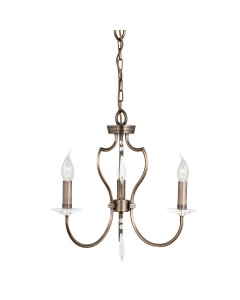 Elstead Lighting Pimlico 3 Light Chandelier In Dark Bronze Finish