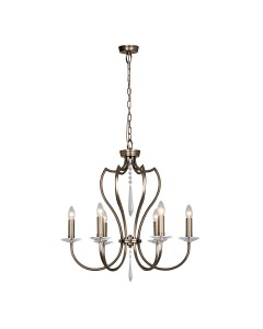 Elstead Lighting Pimlico 6 Light Chandelier In Dark Bronze Finish