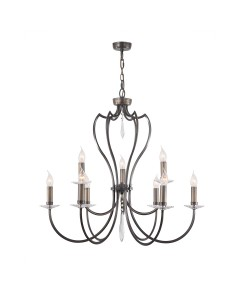 Elstead Lighting Pimlico 9 Light Chandelier In Dark Bronze Finish