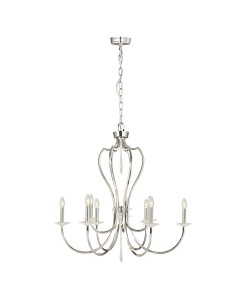 Elstead Lighting Pimlico 9 Light Chandelier In Polished Nickel Finish