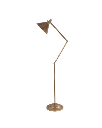 Elstead Lighting Provence 1 Light Floor Lamp In Aged Brass Finish With Adjustable Arm