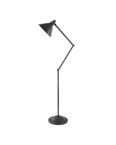 Elstead Lighting Provence 1 Light Floor Lamp In Old Bronze Finish With Adjustable Arm