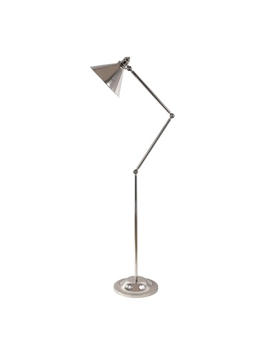 Elstead Lighting Provence 1 Light Floor Lamp In Polished Nickel Finish With Adjustable Arm