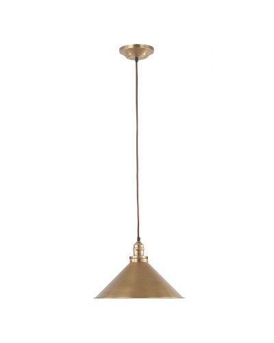 Elstead Lighting Provence 1 Light Pendant In Aged Brass Finish With Height Adjustable Cord (On Installation Only)