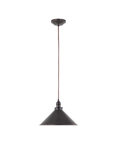 Elstead Lighting Provence 1 Light Pendant In Old Bronze Finish With Height Adjustable Cord (On Installation Only)