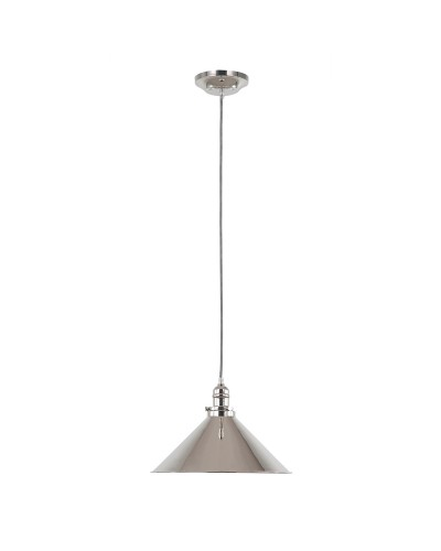 Elstead Lighting Provence 1 Light Pendant In Polished Nickel Finish With Height Adjustable Cord (On Installation Only)