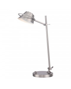 Elstead Lighting Quoizel 7W LED Spencer Table Lamp In Brushed Nickel Finish
