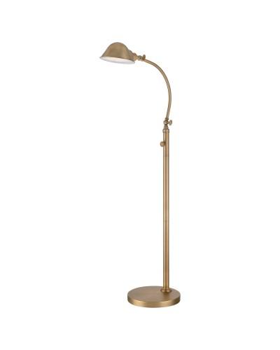 Elstead Lighting Quoizel 7W LED Thompson Floor Lamp In Aged Brass Finish