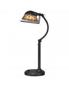 Elstead Lighting Quoizel 7W LED Whitney Table Lamp In Imperial Bronze Finish