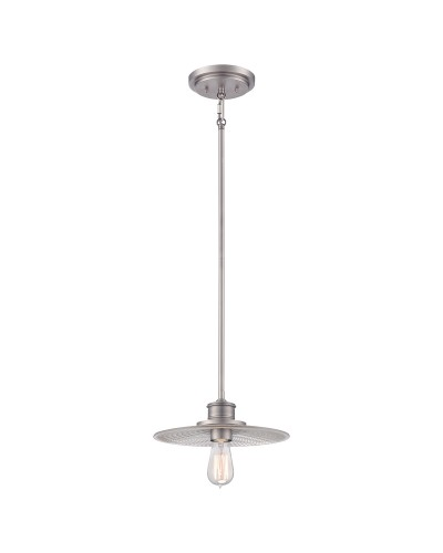 Elstead Lighting Quoizel Admiral 1 Light Fisherman Style Mini Pendant In Antique Nickel Finish With Height Adjustable Rods