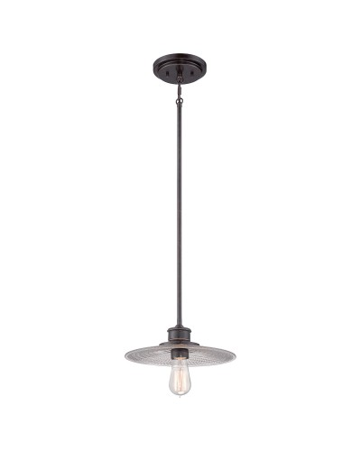 Elstead Lighting Quoizel Admiral 1 Light Fisherman Style Mini Pendant In Imperial Bronze Finish With Height Adjustable Rods