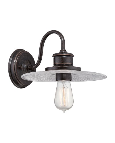Elstead Lighting Quoizel Admiral 1 Light Fisherman Style Wall Light In Imperial Bronze Finish