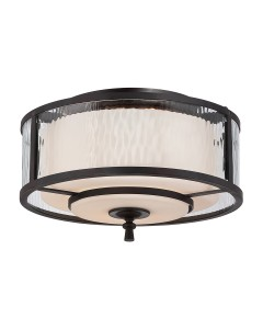 Elstead Lighting Quoizel Adonis 2 Light Flush Mounted Ceiling Light In Dark Cherry Finish