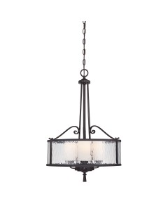 Elstead Lighting Quoizel Adonis 3 Light Pendant In Dark Cherry Finish