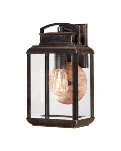 Elstead Lighting Quoizel Byron 1 Light Outdoor Medium Wall Lantern In Imperial Bronze Finish