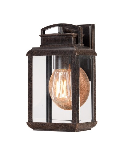 Elstead Lighting Quoizel Byron 1 Light Outdoor Small Wall Lantern In Imperial Bronze Finish