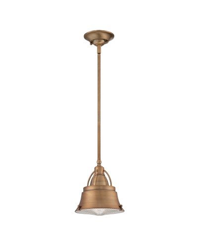 Elstead Lighting Quoizel Cody 1 Light Duo Mount Mini Pendant In Mystic Copper Finish With Height Adjustable Rods