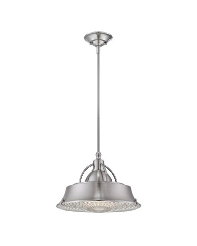 Elstead Lighting Quoizel Cody 2 Light Duo Mount Medium Pendant In Brushed Nickel Finish With Height Adjustable Rods