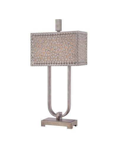 Elstead Lighting Quoizel Confetti 2 Light Table Lamp In Old Silver Finish