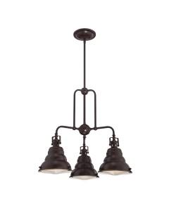 Elstead Lighting Quoizel Eastvale 3 Light Chandelier In Palladian Bronze Finish With Height Adjustable Rods