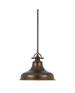 Elstead Lighting Quoizel Emery 1 Light Medium Pendant In Palladian Bronze Finish With 4 Height Adjustable Rods