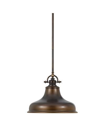 Elstead Lighting Quoizel Emery 1 Light Medium Pendant In Palladian Bronze Finish With 4 Height Adjustable Rods