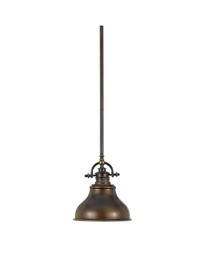 Elstead Lighting Quoizel Emery 1 Light Mini Pendant In Palladian Bronze Finish With 4 Height Adjustable Rods