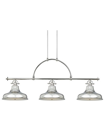 Elstead Lighting Quoizel Emery 3 Light Island Pendant In Imperial Silver  Finish
