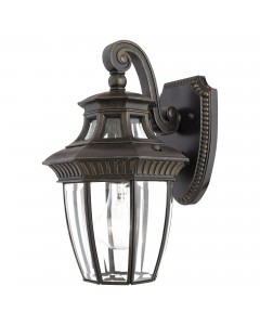 Elstead Lighting Quoizel Georgetown 1 Light Outdoor Small Wall Lantern In Imperial Bronze Finish