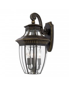Elstead Lighting Quoizel Georgetown 3 Light Outdoor Medium Wall Lantern In Imperial Bronze Finish