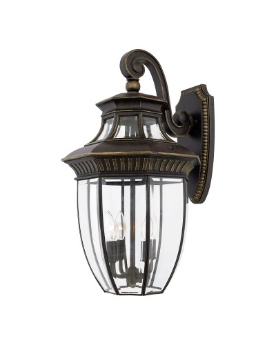 Elstead Lighting Quoizel Georgetown 4 Light Outdoor Large Wall Lantern In Imperial Bronze Finish