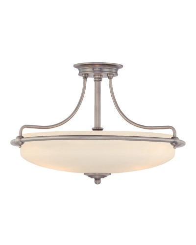 Elstead Lighting Quoizel Griffin Medium 4 Light Semi-Flush Ceiling Light In Antique Nickel Finish