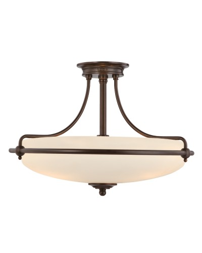 Elstead Lighting Quoizel Griffin Medium 4 Light Semi-Flush Ceiling Light In Palladian Bronze Finish