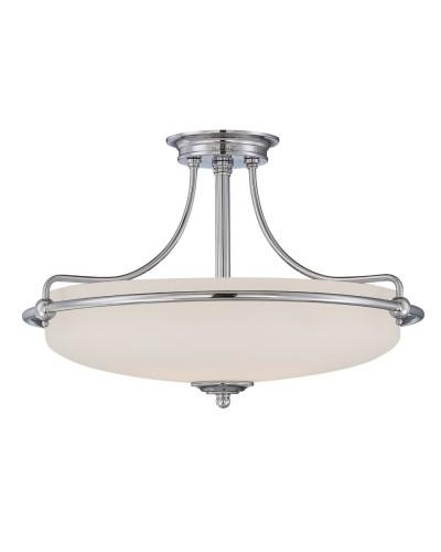 Elstead Lighting Quoizel Griffin Medium 4 Light Semi-Flush Ceiling Light In Polished Chrome Finish