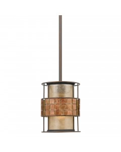 Elstead Lighting Quoizel Laguna 1 Light Mini Pendant In Renaissance Copper Finish With Height Adjustable Rods