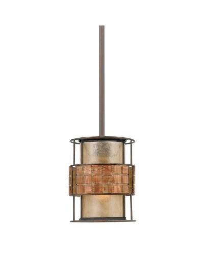 Elstead Lighting Quoizel Laguna 1 Light Mini Pendant In Renaissance Copper Finish With Height Adjustable Rods